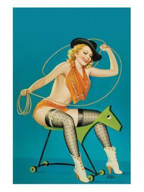 "Flirt Magazine;"" Roping the Horse"" by Peter Driben"