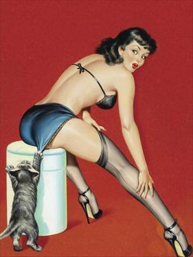 Mid-Century Pin-Ups - Flirt Magazine - Playful Pussy by Peter Driben