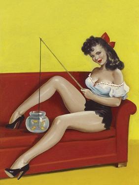 Mid-Century Pin-Ups - Joker Magazine - Fishin n funny by Peter Driben