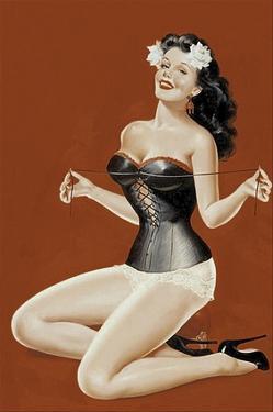 Mid-Century Pin-Ups - Lacing her bra by Peter Driben