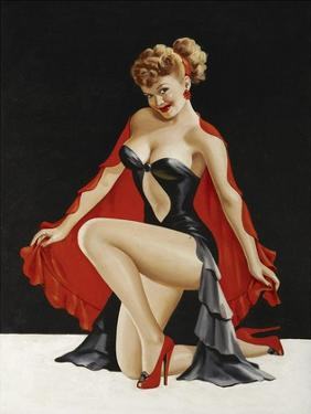 Mid-Century Pin-Ups - Magazine Cover - Little Red Cape by Peter Driben