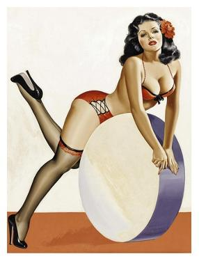 Mid-Century Pin-Ups - Over a drum by Peter Driben