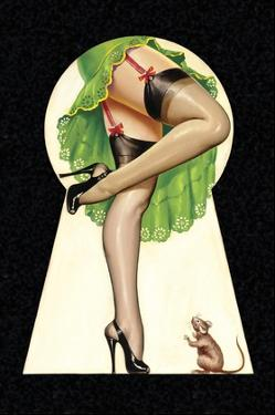 Mid-Century Pin-Ups - Through the Keyhole by Peter Driben