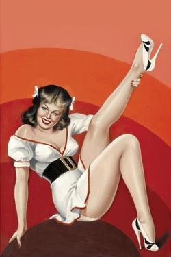 Mid-Century Pin-Ups - Titter Magazine - Winking Brunette by Peter Driben