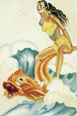 Mid-Century Pin-Ups - Whisper Magazine - Wave Rider by Peter Driben
