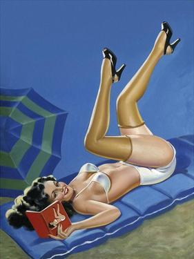Mid-Century Pin-Ups - Wink Magazine - Merry mirthful Maiden by Peter Driben