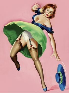 Mid-Century Pin-Ups - Wink Magazine - Strong Wind by Peter Driben