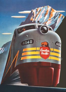 Canadian Pacific Railway Company - Diesel Locomotive Train by Peter Ewart