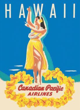 Hawaii - Canadian Pacific Airlines - Hawaiian Hula Dancer by Peter Ewart