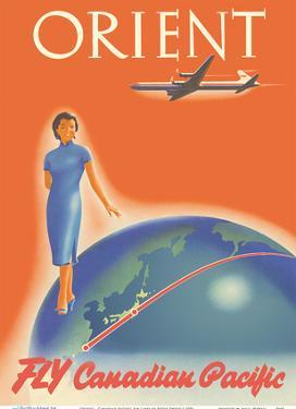 Orient - Fly Canadian Pacific Air Lines by Peter Ewart