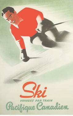Ski - Travel by Train (Voyagez Par Train) - Canadian Pacific Railway by Peter Ewart
