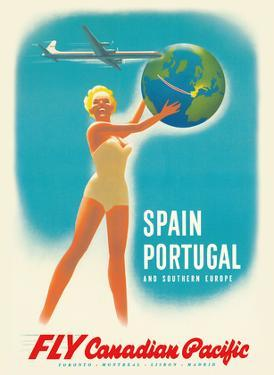 Spain - Portugal - Southern Europe - Fly Canadian Pacific Air Lines by Peter Ewart