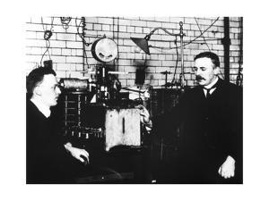 Rutherford And Geiger In Laboratory by Peter Fowler