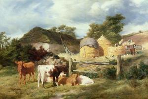 A Highland Croft, 1873 by Peter Graham