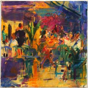 Cafe De La Place, St Paul De Vence by Peter Graham
