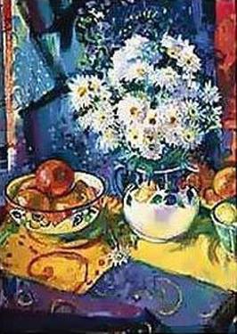 Flowers &  Fruitinbowl-b9 by Peter Graham