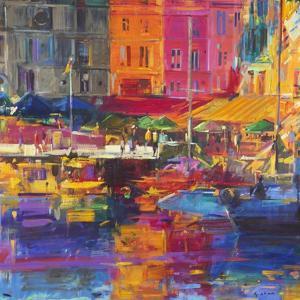 Honfleur Harbour, 2011 by Peter Graham