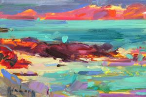 On the Shore, Iona, 2012 by Peter Graham