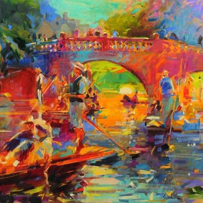 Punts, Clare Bridge by Peter Graham