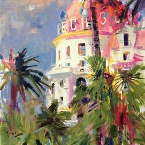 Riviera Balcony, 2002 by Peter Graham