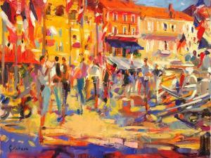 St. Tropez Promenade by Peter Graham