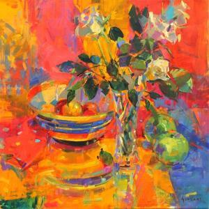 Still Life with Clarice Cliff Bowl by Peter Graham