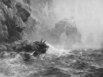 'Where Nought Is Heard But Lashing Wave And Sea-Birds' Cry', c1880, (1912) by Peter Graham
