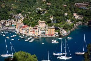 Aerial View, Portofino, Liguria, Italy, Europe by Peter Groenendijk
