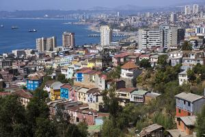 Aerial View, Valparaiso, Chile by Peter Groenendijk