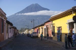 Antigua and Vulcano Fuego, Guatemala, Central America by Peter Groenendijk