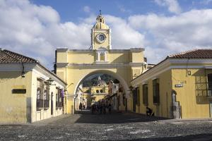 Arch leading to Merced church, Antigua, UNESCO World Heritage Site, Guatemala, Central America by Peter Groenendijk