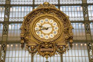 Clock, Musee d'Orsay, Paris, France, Europe by Peter Groenendijk