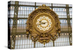Clock, Musee d'Orsay, Paris, France, Europe by Peter Groenendijk