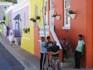 Colourful Houses, Bo-Cape Area, Malay Inhabitants, Cape Town, South Africa, Africa by Peter Groenendijk