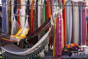 Hammocks for sale, Otovalo craft market, Otovalo, Ecuador, South America by Peter Groenendijk