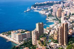 High Angle View, Monaco, Cote D'Azur, Mediterranean, Europe by Peter Groenendijk