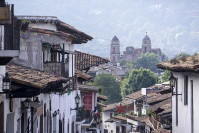 Looking down on town centre, Valle de Bravo, Mexico, North America by Peter Groenendijk