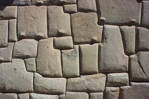 Magnificent Inca Wall, Cuzco, UNESCO World Heritage Site, Peru, South America by Peter Groenendijk