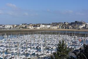 Marina and Main Town, St. Malo, Brittany, France, Europe by Peter Groenendijk