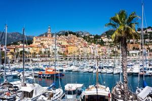 Old Town and Marina, Menton, Cote D'Azur, French Riviera, Provence, France, Mediterranean, Europe by Peter Groenendijk