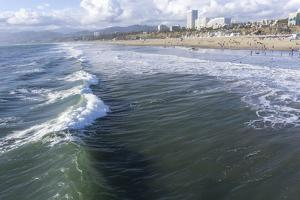 Sea and beach, Santa Monica, California, United States of America, North America by Peter Groenendijk