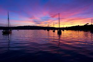 Spectacular Sunset, Falmouth Harbour, Cornwall, England, United Kingdom, Europe by Peter Groenendijk
