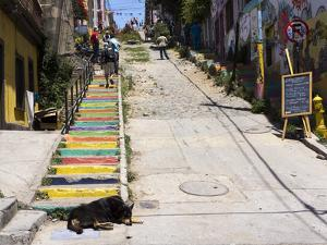 Steps, Valparaiso, Chile by Peter Groenendijk