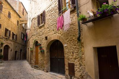 Street in Old Town, Volterra, Tuscany, Italy, Europe by Peter Groenendijk