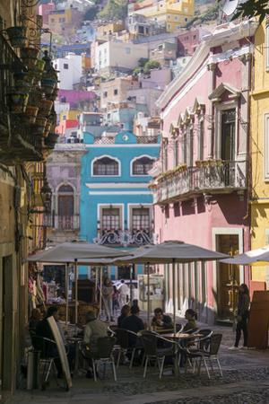 Street scene, Guanajuato, Mexico, North America by Peter Groenendijk