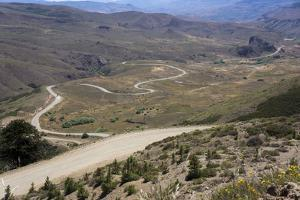 Winding Road, Foothills of the Andes, Argentina by Peter Groenendijk