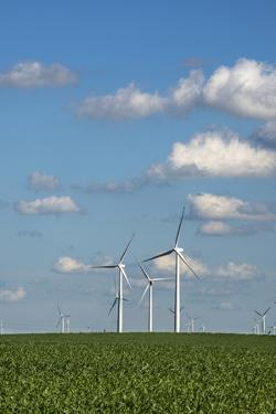 Minnesota, Dexter, Grand Meadow Wind Farm by Peter Hawkins