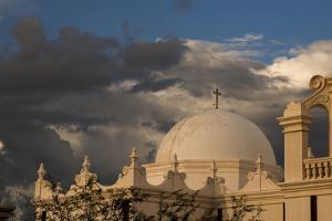 USA, Arizona, Tucson, Mission San Xavier del Bac by Peter Hawkins