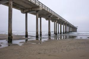 USA, California, La Jolla, Scripps Pier, Dawn by Peter Hawkins