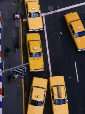 Aerial View of Taxis, New York City, USA by Peter Hendrie